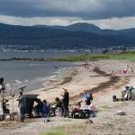 Waterloo Road on location at Lunderston Bay