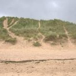 Large dune in the Foveran Links beside the Ythan Estuary