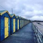 Minnis Bay on our xmas tour of the marshes first puncture. #beachhuts #minnisbay #tourofmarshes
