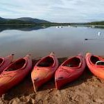 Canoes by Loch Morlich