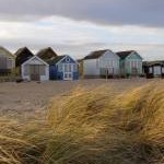 Sand and beach huts on Mudeford Spit