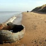 World War II Pillbox on Point of Ayr Beach