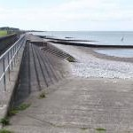 Sea wall and promenade, Silloth