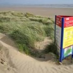 Visitor information on the dunes
