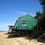 Beach hut at Wrabness