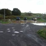 Flooded car park, Lunan