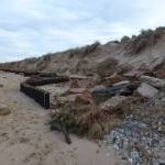 Brancaster sea defences after the tidal surge
