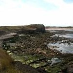 Rocky coastline at Nessend