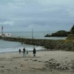 The beach and Breakwater, Looe