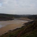 Pembrokeshire Coast Path at Manorbier Bay