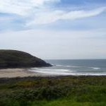 Manorbier Beach from the carpark