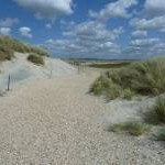 Gravel and sand path at The Spit, East Head