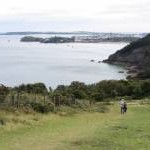 Pembrokeshire Coast Path with views to Tenby