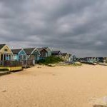Beach huts on Mudeford Sandbank