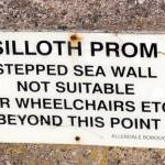 Notice - Silloth promenade