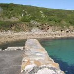 Turquoise sea at Lamorna