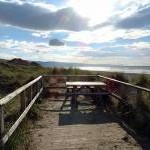 Picnic table in the dunes at Dyffryn