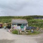 Car Park and shop at Kennack Sands