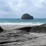 The Beach at Trebarwith Strand