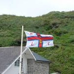 RNLI flag at Trebarwith
