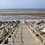 Towyn beach steps