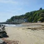 Monks Bay, a secluded bay in Bonchurch, Isle of Wight