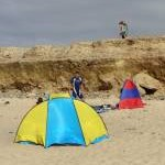 Beach tents on Gwithian Sands