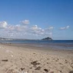 Long rock beach looking towards St Michael's mount
