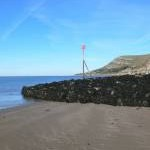 Breakwater on West Shore beach, Llandudno