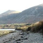 Warning of soft sand and mud on the eastern section of the beach at Trefor