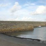 In the lee of the breakwater