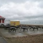 Unsurprisingly no pic-nicers on Southsea seafront