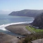 Lynmouth beach from Lynton