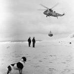 RAF Seaking crew training on the East Beach