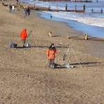 Fishing on Withernsea Beach