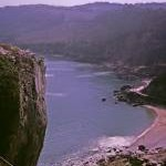 Redgate Beach from Walls Hill, Torquay, Devon taken 1964