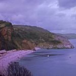 Oddicombe Beach from Babbacombe Downs, Devon taken 1964