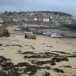 Tide going out, Mousehole harbour