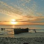 Woodstown beach at sunrise