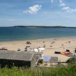 Tenby South Beach, with Caldey Island