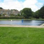 Model boating lake at Wherry Town
