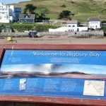 Information Board above Bigbury Beach