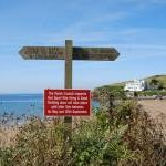 Signpost above Bigbury Beach