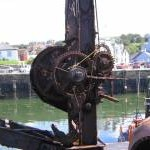 Rusty crane at Portpatrick Harbour