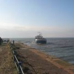 Silloth Harbour mouth with