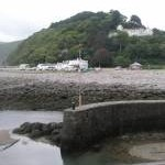 Tide rapidly going out at Lynmouth
