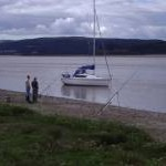 Fishing on the River Kent, Arnside, Cumbria