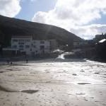The Beach Cafe and slipway at Trevaunance Porth